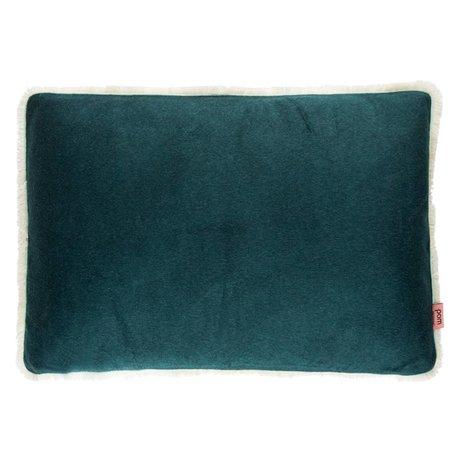 POM Amsterdam Coussin doux gouttes 40x60cm textile vert forêt