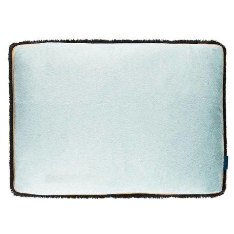 POM Amsterdam Coussin doux gouttes 40x60cm textile bleu de la mer