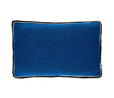 POM Amsterdam Ornamental cushion Royal Mousse blue 40x60cm