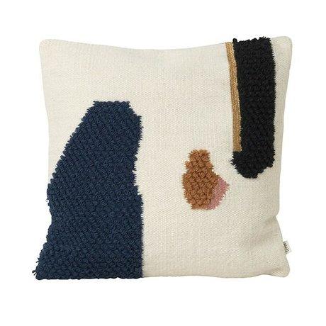 Ferm Living Cushion Loop Mount Multicolour Wool Canvas 50x50cm