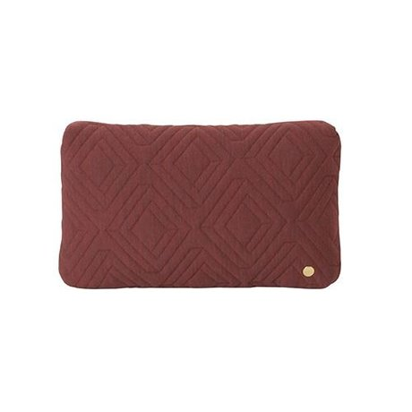 Ferm Living Sierkussen Quilt Rust bordeaux rood wol 40x25cm