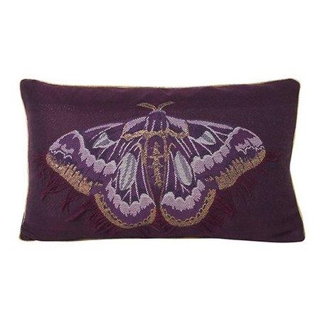 Ferm Living Sierkussen Salon vlinder paars blauw velours katoen 40x25cm