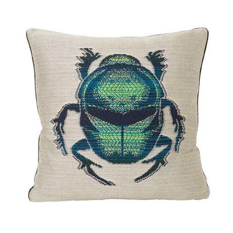 Ferm Living Ornamental cushion Beetle multicolor velvet cotton 40x40cm