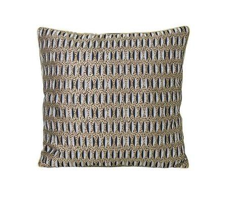 Ferm Living Ornamental cushion leaf multicolored velvet cotton 40x40cm