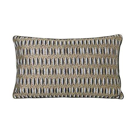 Ferm Living Ornamental cushion leaf multicolored 40x25cm