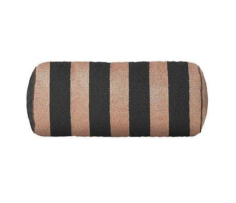 Ferm Living Cushion Bolster Bengal pink gray 41.5x Ø16.5cm