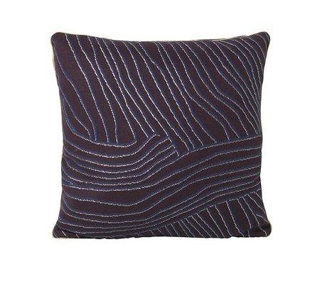 Ferm Living Cushion coral purple blue cotton velours 40x40cm