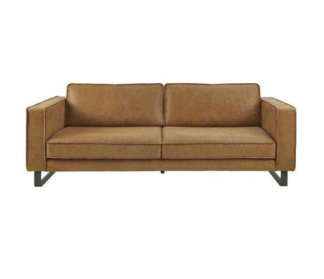 I-Sofa Bank 4-Sitzer Harley cognacbraun Leder 260x96x82cm
