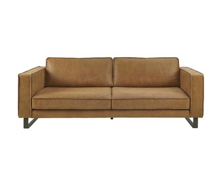 I-Sofa Sofa 4 seater Harley cognac brown leather 260x96x82cm