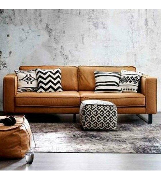 New I-Sofa Bank 4 zits Harley cognac bruin leer 260x96x82cm @SJ11