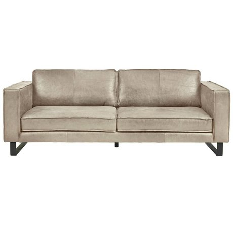 I-Sofa Sofa 4 seater Harley taupe brown leather 260x96x82cm