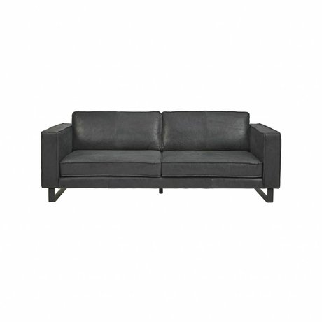 I-Sofa Sofa 2.5 seater Harley black leather 184x96x82cm