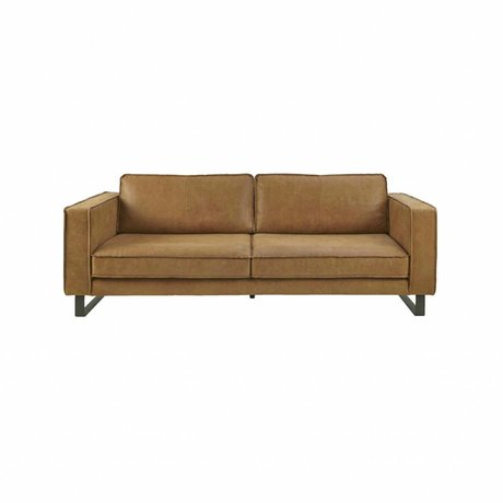 I-Sofa Sofa 2.5 seater Harley cognac brown leather 184x96x82cm