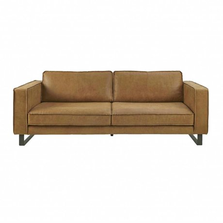 I-Sofa Sofa 3.5 seater Harley cognac brown leather 234x96x82cm