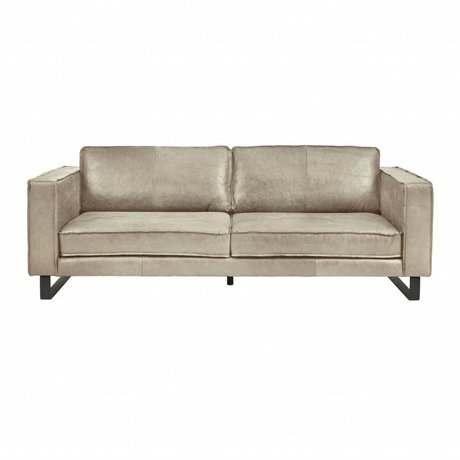 I-Sofa Sofa 3.5 seater Harley taupe brown leather 234x96x82cm