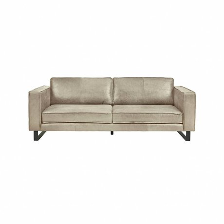 I-Sofa Sofa 2,5 seater Harley taupe brown leather 184x96x82cm