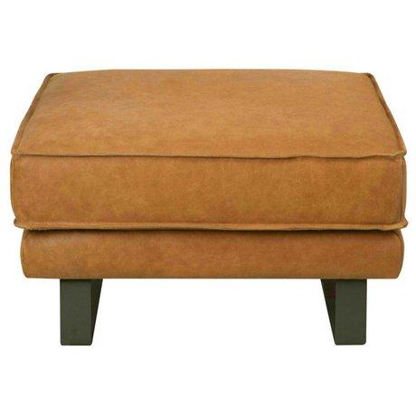 I-Sofa Hocker Harley cognac brown leather 81x81x45cm