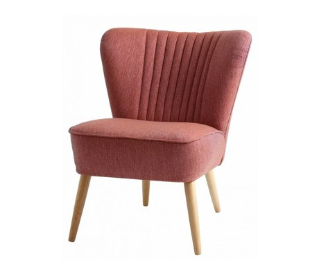 I-Sofa Armchair Lola pink textile 60x51x71cm