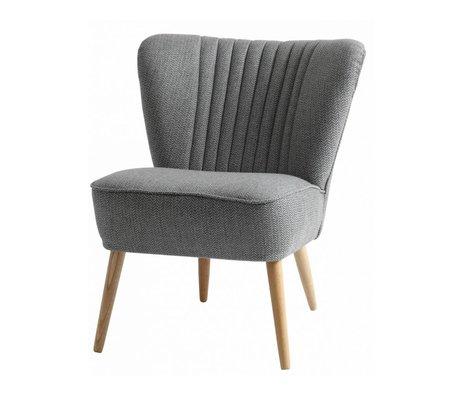 I-Sofa Fauteuil Lola grijs textiel 60x51x71cm