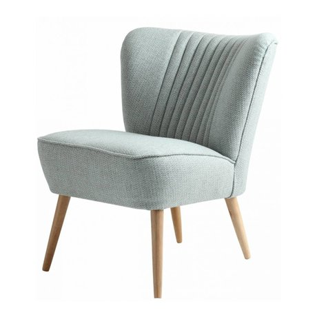 I-Sofa Armchair Lola light blue textile 60x51x71cm