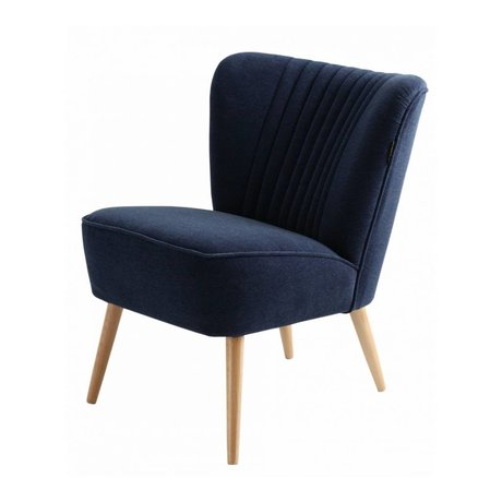 I-Sofa Sessel Lola dunkelblau Textil-60x51x71cm