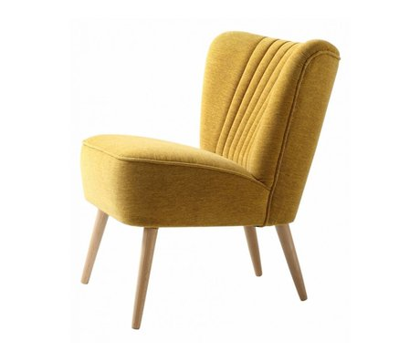 I-Sofa Fauteuil Lola 60x51x71cm textile jaune
