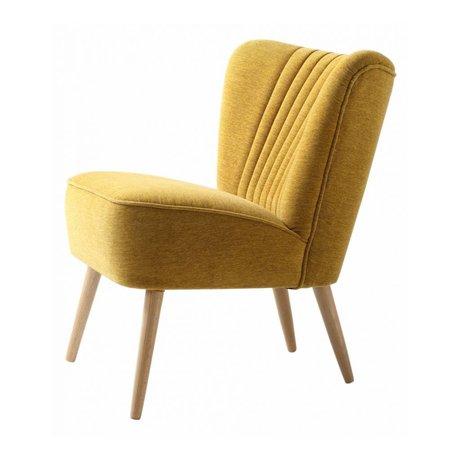 I-Sofa Fauteuil Lola geel textiel 60x51x71cm