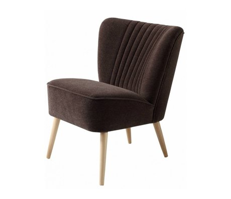 I-Sofa Fauteuil Lola 60x51x71cm textile marron