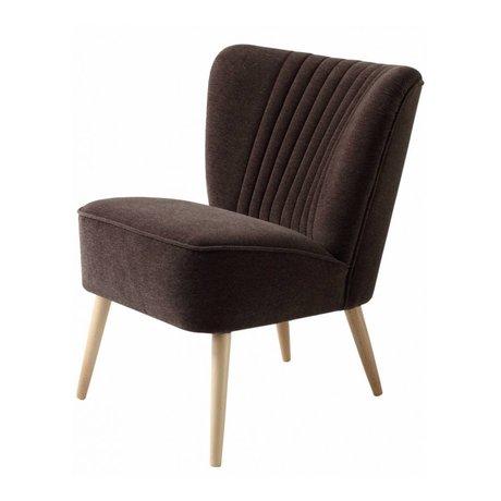 I-Sofa Sessel Lola braun textile 60x51x71cm