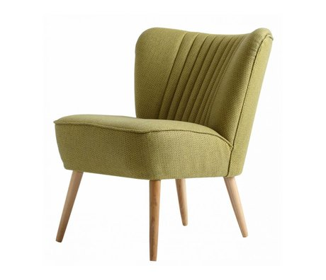 I-Sofa Armchair Lola light green textile 60x51x71cm