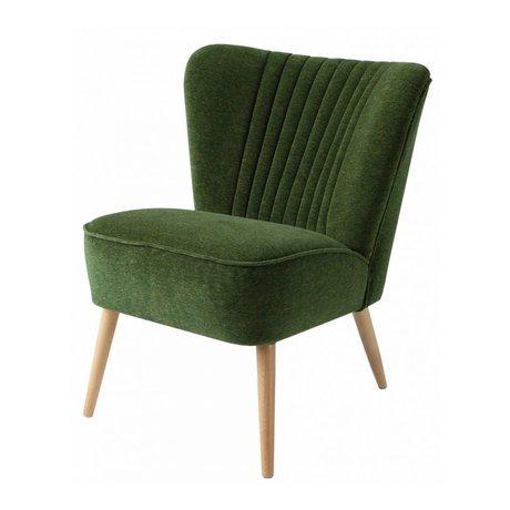 I-Sofa Sessel Lola dunkelgrünen Stoff 60x51x71cm