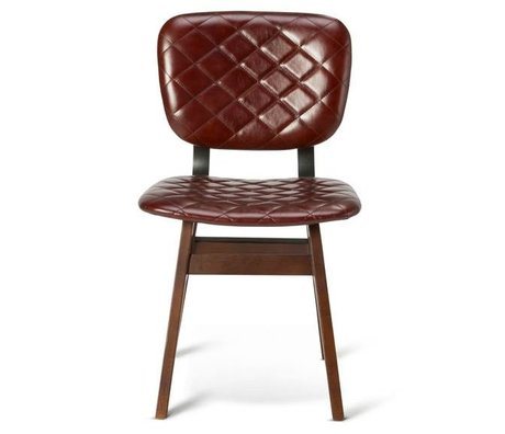 O'BEAU Chair Zion rust red leather 47x52x82cm
