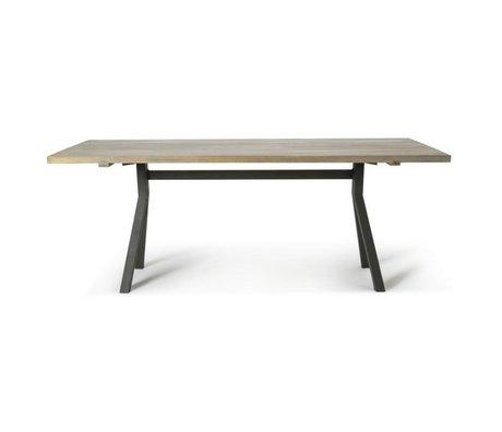 O'BEAU Table Milo gray oak wood 200x76x90cm