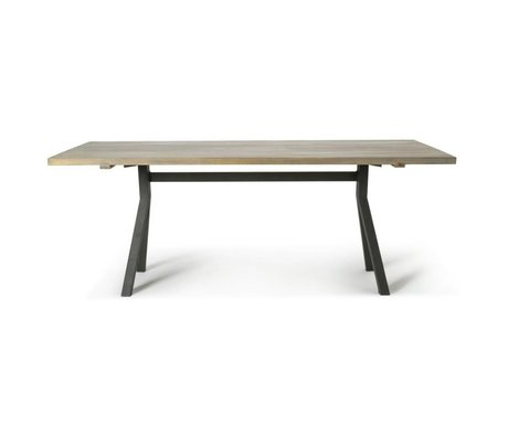 O'BEAU Table Milo gray oak wood 220x76x90cm