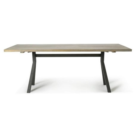O'BEAU Tafel Milo grijs eiken hout 220x76x90cm