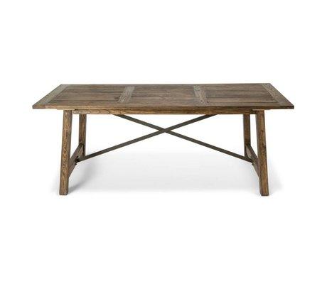 O'BEAU Table Iya brown wood 200x90x76cm