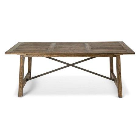 O'BEAU Tafel Ilja bruin hout 200x90x76cm