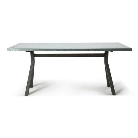 O'BEAU Tableau Milo métal gris acier 180x90x76cm