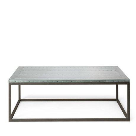 O'BEAU Coffee table Nino gray metal 130x70x42cm