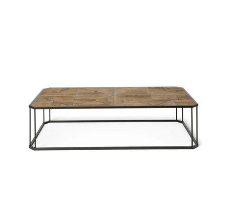 O'BEAU Salontafel Flynn bruin hout metaal 160x80x40cm