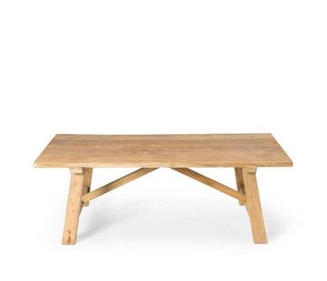 O'BEAU Coffee table Rue brown wood 130x70x44cm