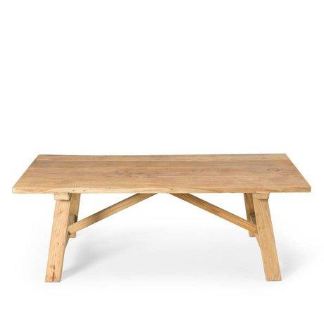 O'BEAU Rue bois brun table basse 130x70x44cm