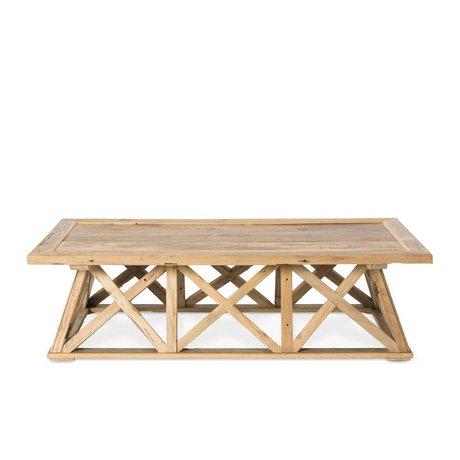 O'BEAU Sid brauner Holz Couchtisch 140x70x38cm