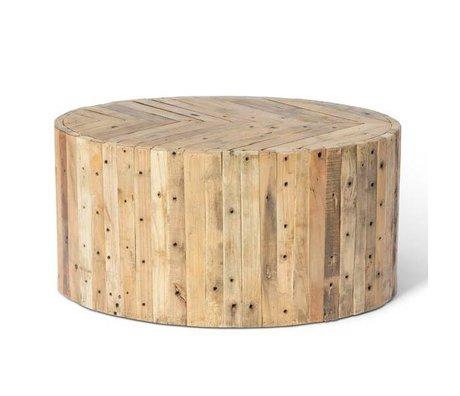 O'BEAU Coffee table Liv brown wood 90x60x42cm