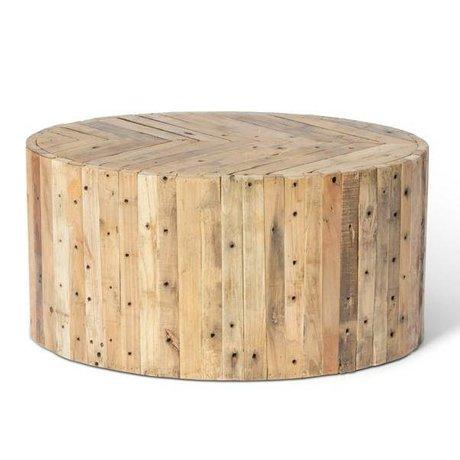 O'BEAU Liv braunem Holz Couchtisch 90x60x42cm