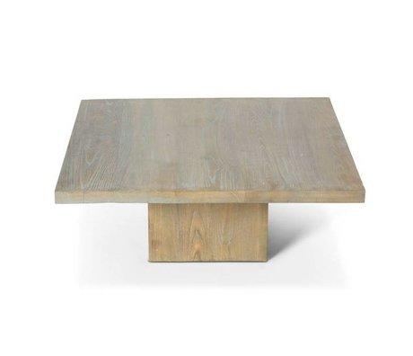 O'BEAU Eos bois gris table basse 90x90x35cm
