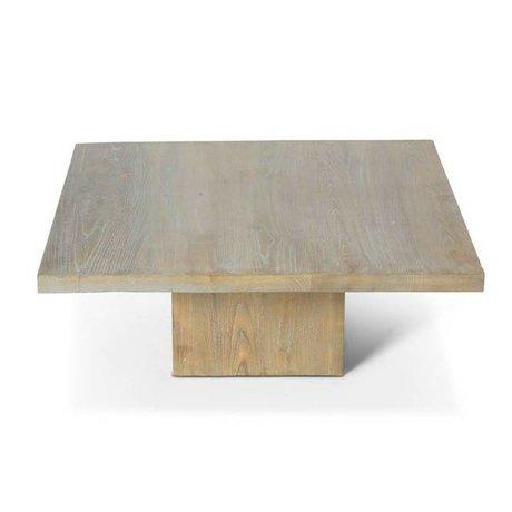 O'BEAU Coffee table Eos gray wood 90x90x35cm