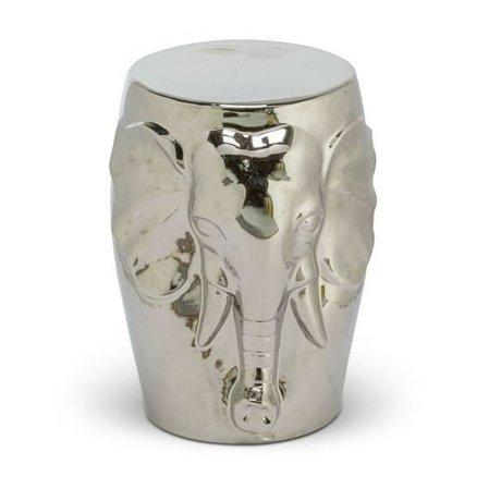 O'BEAU Beistelltisch Nori Silber Metall 32x32x46cm