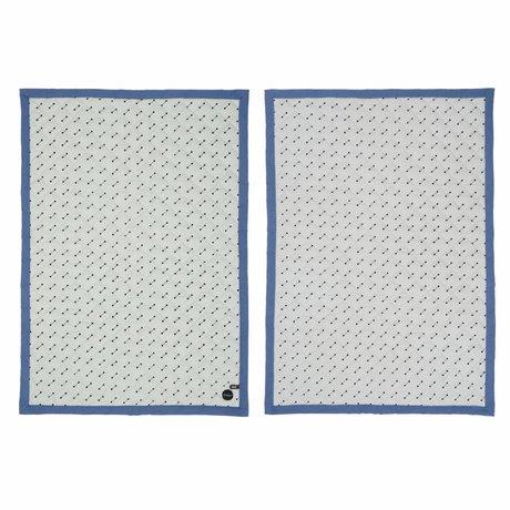 OYOY Play sign blue / gray cotton 70x100cm
