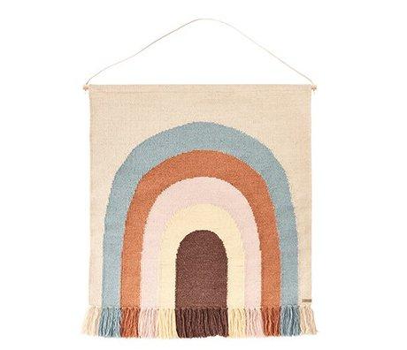 OYOY Tapisserie suivre le coton / laine multicolore arc-en-100x115cm